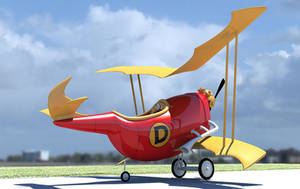Dick Dastardly's Flying machine by rapscallionmonkey