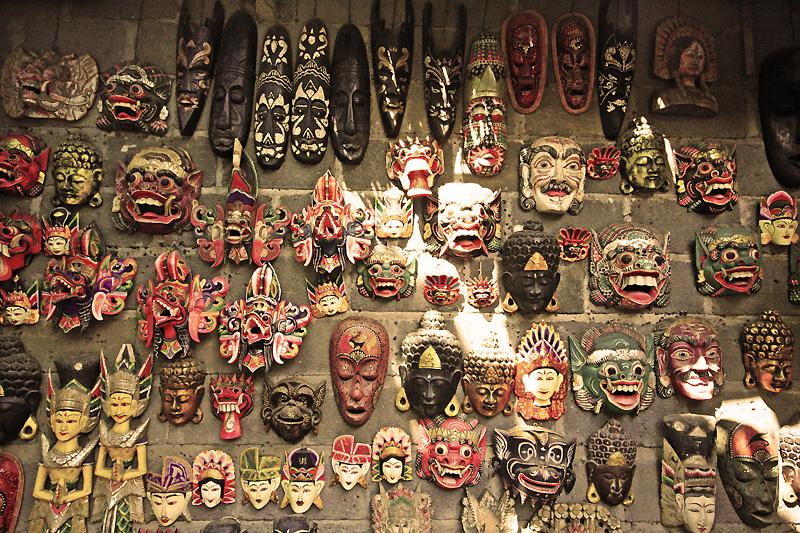 bali masks by worldpitou