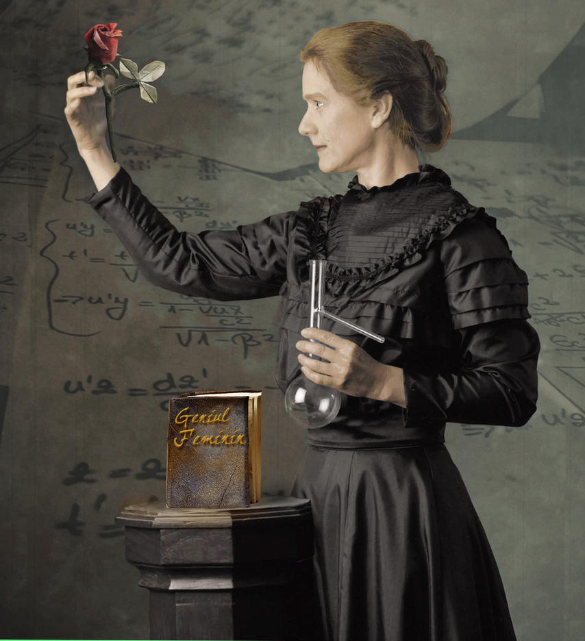 It's just a picture of Simplicity Marie Curie Drawing