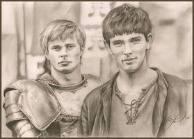 Arthur and Merlin by TatharielCreations