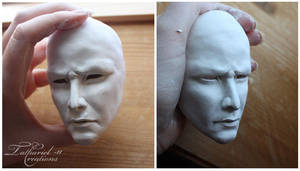 WIP sculpt head - Keanu Reeves by TatharielCreations