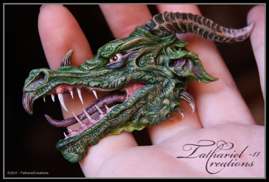 Dragon head - sculpt by TatharielCreations