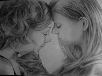 Tara and Willow -  Drawing by TatharielCreations