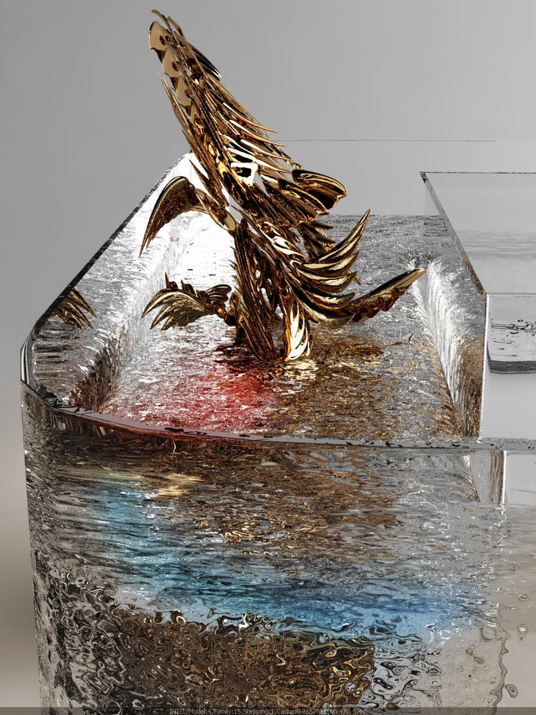 3D - Golden Dragon by nnq2603