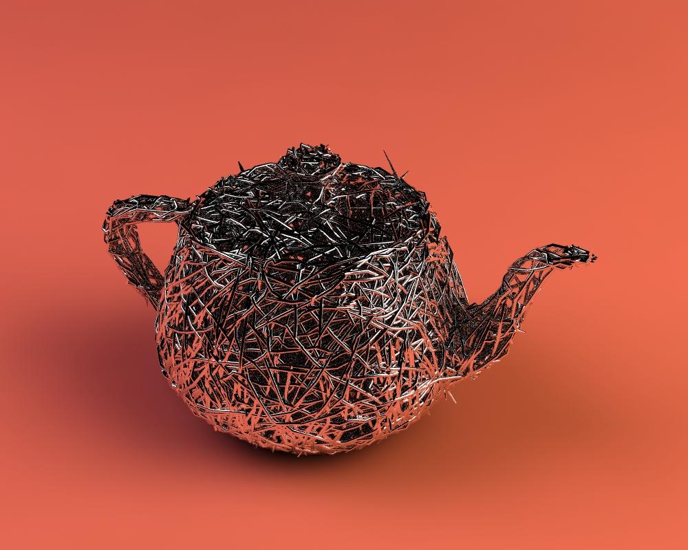 3D - Pflow Spline Teapot by nnq2603