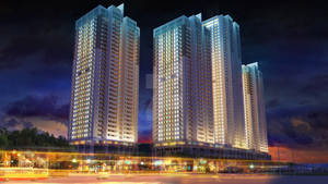 3D building night view