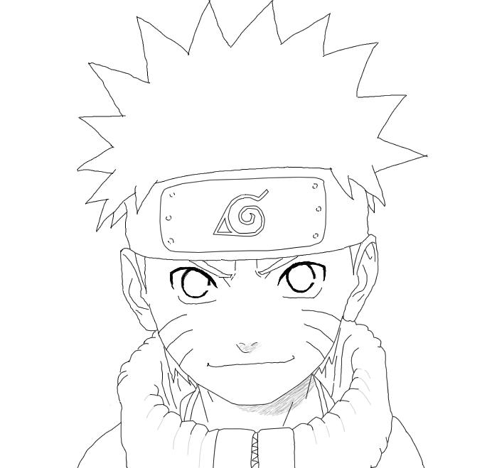 Naruto Lineart : Naruto line art by jade on deviantart
