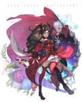 Archer and Kaleido Ruby(Rin Tohsaka)