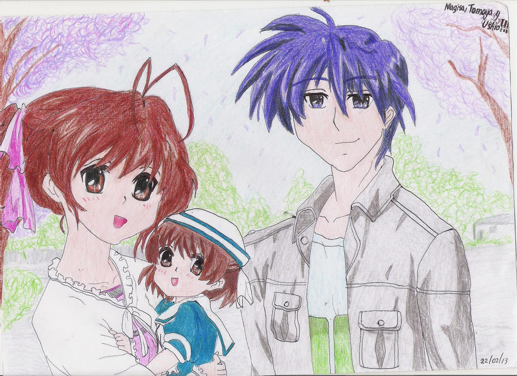 Nagisa, Tomoya and Ushio - Clannad by Gisux on DeviantArt