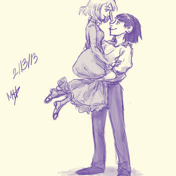 Howl and Sophie by mexicananime06