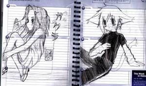 Sakura and random person by mexicananime06