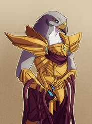 LoL - Azir before battle by M-hourglass