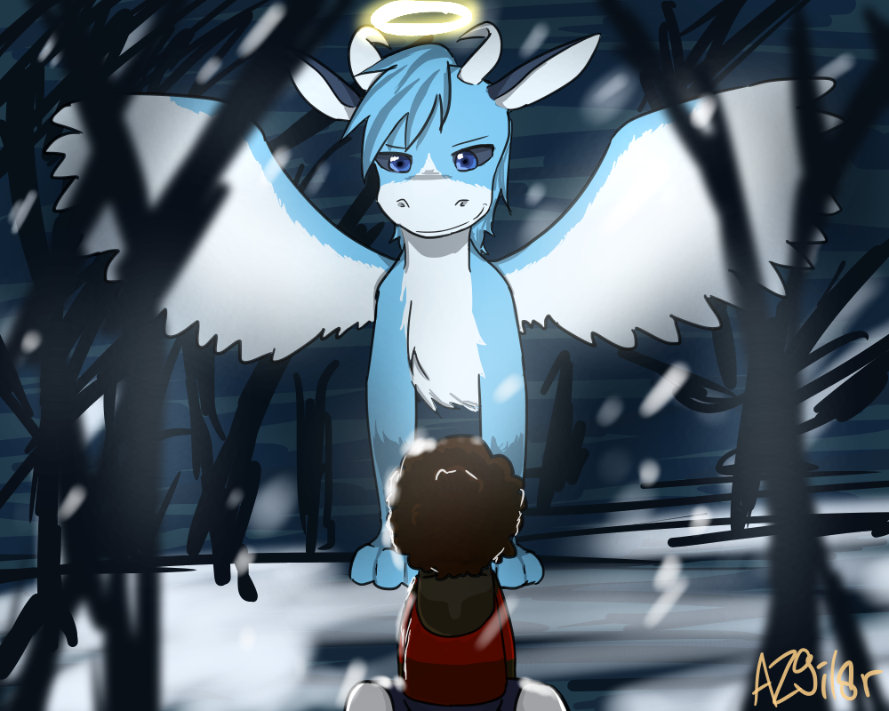The dragon (Sapphire contest) by AishaZero9i18r