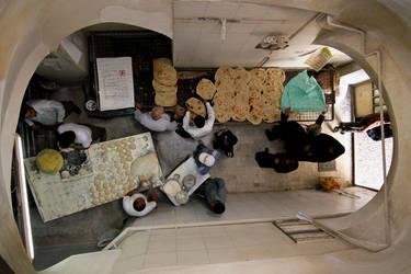 Bakery from above, Iran by hofiak