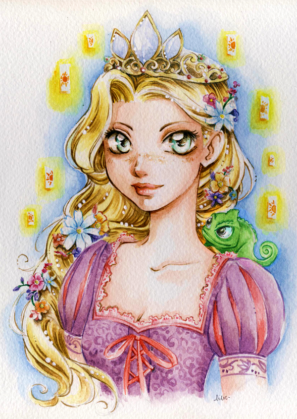 Princess Rapunzel by lilie-morhiril