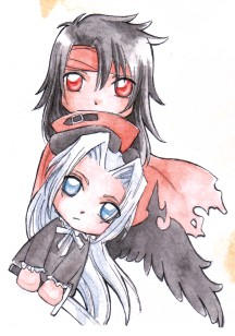 Vincent and Sephiroth by lilie-morhiril