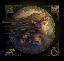 Princess Zelda - O Son Do Ar by DarthiaWolf