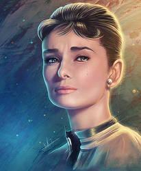 Audrey Hepburn - Crying Diamonds by DarthiaWolf