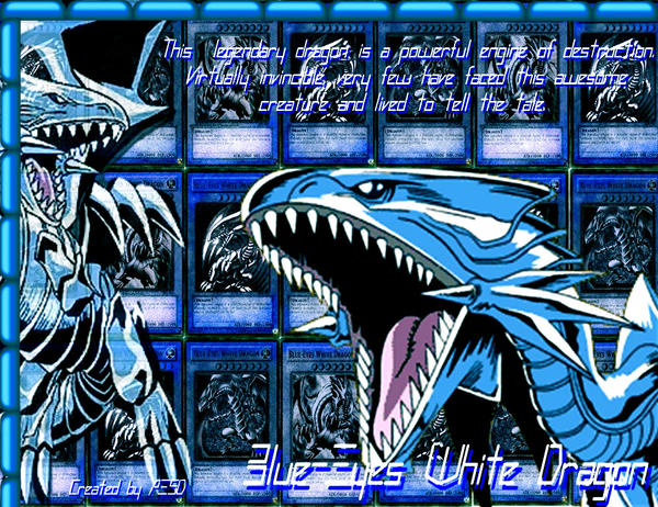 Blue-Eyes White Dragon Wallpaper by AESD