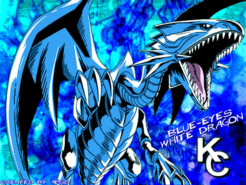 blue eyes white dragon wallpaper by aesd on deviantart