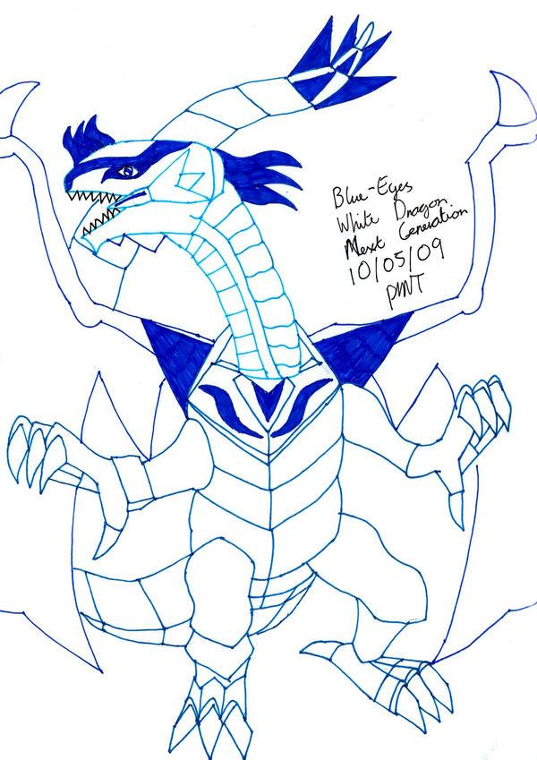 blue eyes white dragon. Blue Eyes White Dragon GX by
