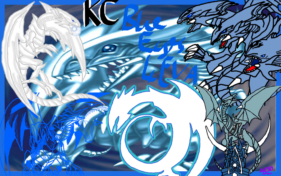 blue eyes white dragon wallpaper by aesd on deviantart