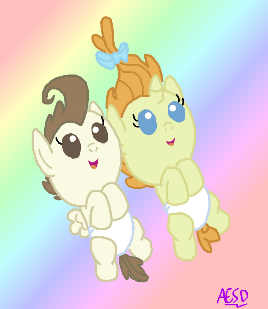 Mlp Cake Twins Sharing Their Toys With Flurry Heart