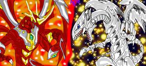 Pyrus Titanium Dragonoid VS Blue-Eyes White Dragon