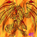 Red-Eyes Darkness Metal Dragon Lineart