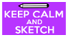 Keep Calm and Sketch Stamp by AESD