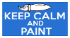 Keep Calm and Paint Stamp by AESD