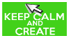 Keep Calm and Create (mouse) Stamp by AESD