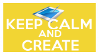 Keep Calm and Create (graph tablet) Stamp by AESD