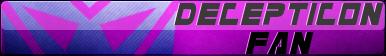 Transformers Decepticon Fan Button
