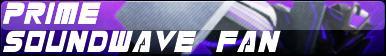 Transformers Prime Soundwave Fan Button