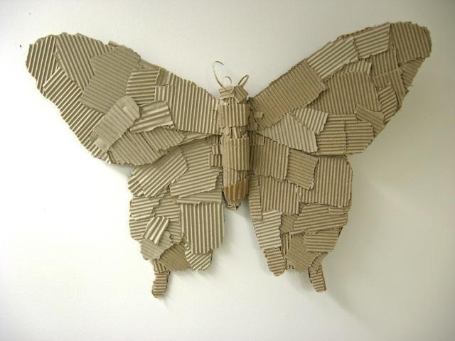 Butterfly Cardboard Sculpture 2014 by willowbrooke95 on DeviantArt