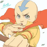 Aang - Avatar by p-doggie
