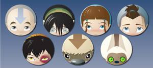 Avatar: The Last Airbender Button Set