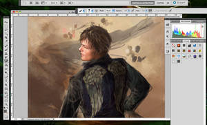 Daryl A better Angel: WIP by Brilcrist