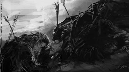 Fili and Kili Battle of Five Armies. by Brilcrist