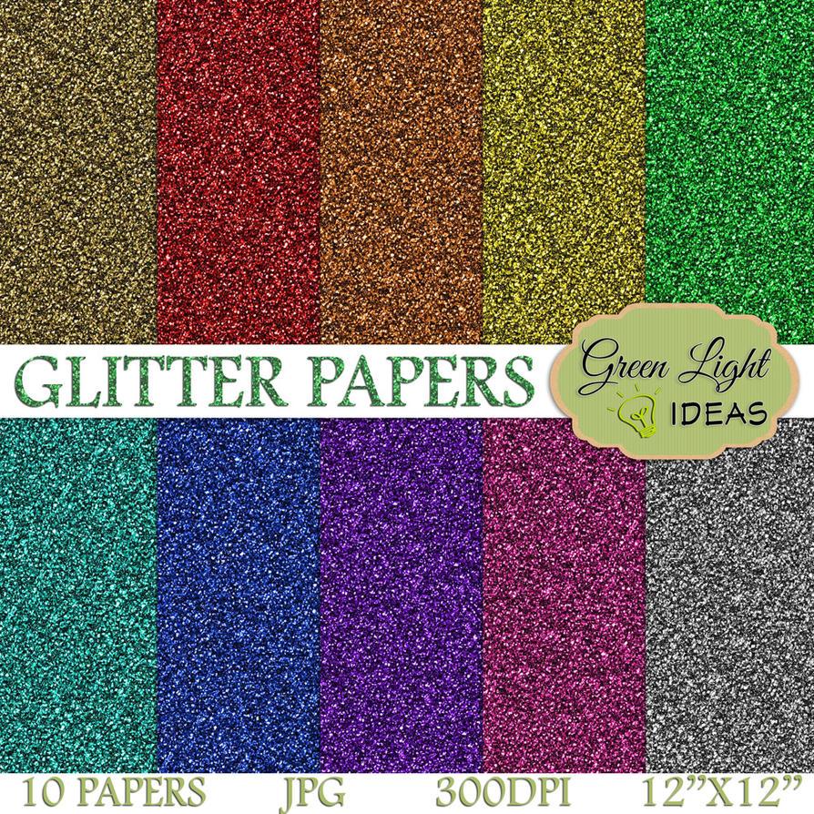 rainbow glitter digital paper pack by greenlightideasgli on deviantart