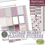 Vintage Shabby Planner Stickers