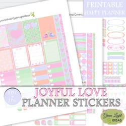 Valentine's Happy Planner Printable Stickers by GreenLightIdeasGLI