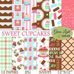 Sweet Cupcakes Digital Papers