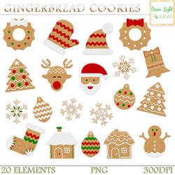 Gingerbread Cookies Clipart by GreenLightIdeasGLI