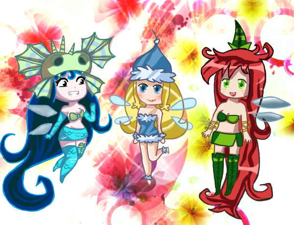 Rayman Nymph Ladies~ by IceCreamLink