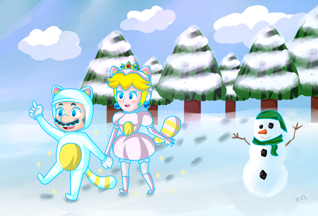 MarioxPeach-White Takooni! by IceCreamLink
