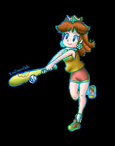 Princess Daisy Plays Baseball by IceCreamLink