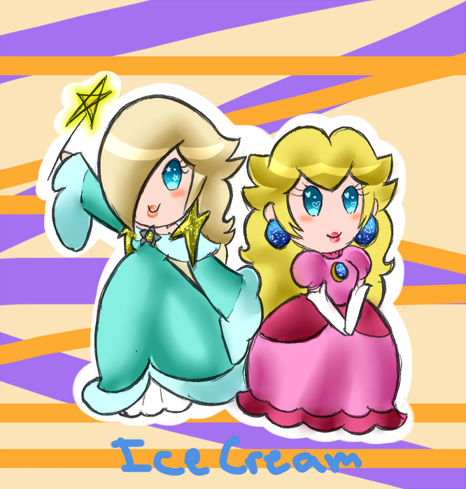 Rosalina and Peach by IceCreamLink