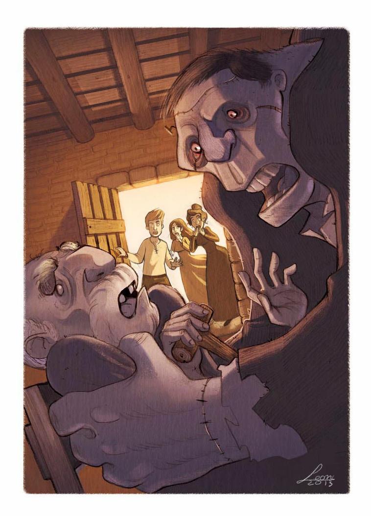 Frankenstein Illustrations ( La Spiga Edizioni) by LeoniAnnalisa